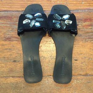 BCBGMAXAZRIA Jeweled Sandals